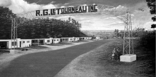 Mural- R. G. LeTourneau Industries: