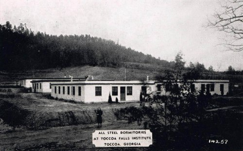 Figure 6. All-steel dormitories at Toccoa Falls Institute – Toccoa, Georgia. Postcard circa 1940s, collection of the author.