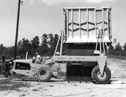 Figure 18. LeTourneau's Baby Tournalayer, 1951, Toccoa, Georgia, photograph, courtesy of Dale Hardy of LeTourneau Technologies and R.G. LeTourneau Heritage Center.
